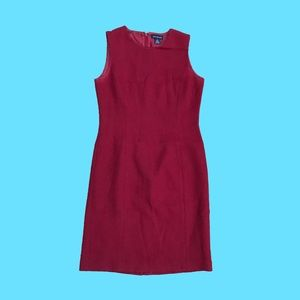 Ann Taylor red wool tank dress
